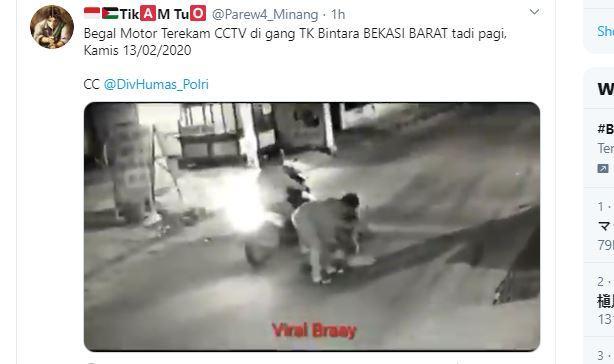 Aksi Begal di Jalan Bintara Jaya Bekasi Viral di Media Sosial