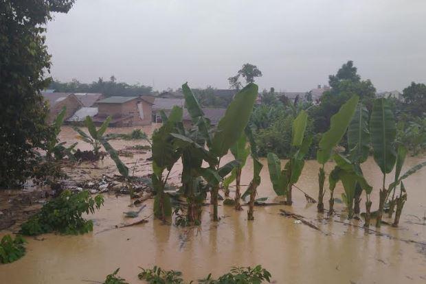 Sungai Babura Meluap, Ratusan Rumah di Beringin Medan Terendam