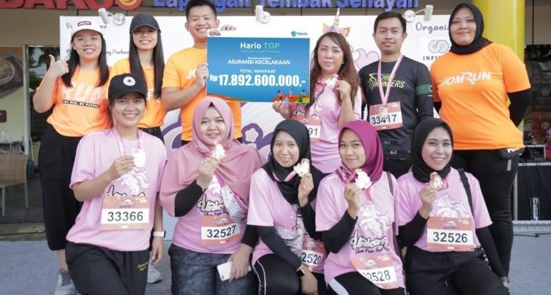 Hario Apps Sinergi Bersama Jomrun Dukung Kegiatan Unicorn Run di Cibinong
