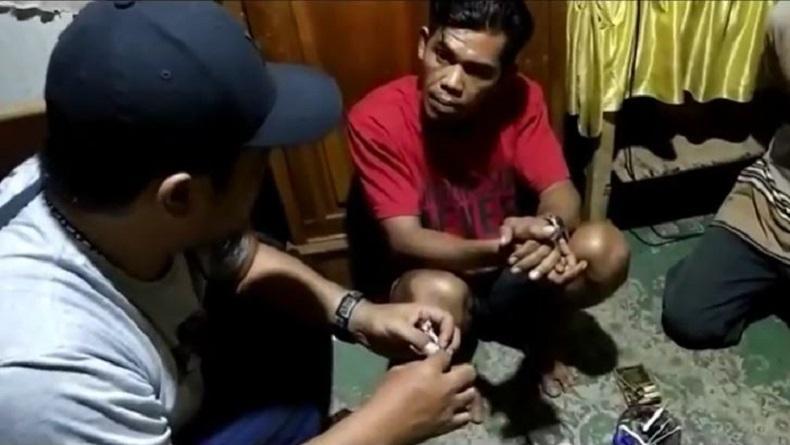 Digerebek saat Pesta Sabu, Seorang Buruh Bangunan Jual Nama Perwira Polisi Polres Gowa