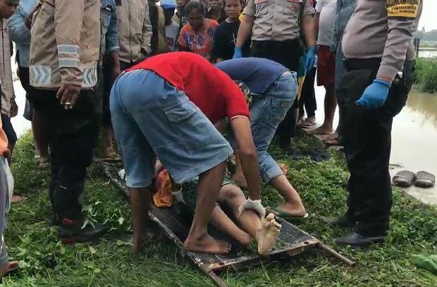 Mayat Perempuan Paruh Baya Tanpa Identitas Ditemukan di Pinggir Sungai Pamanukan Subang