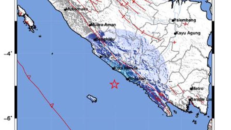 Gempa Hari Ini Magnitudo 4,8 Guncang Kaur Bengkulu