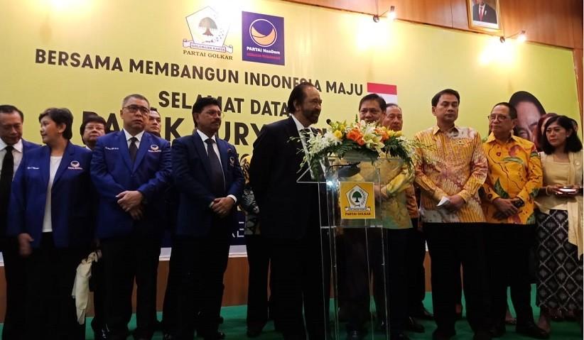 Surya Paloh Bertemu Airlangga, Usul Ambang Batas Parlemen 7 Persen