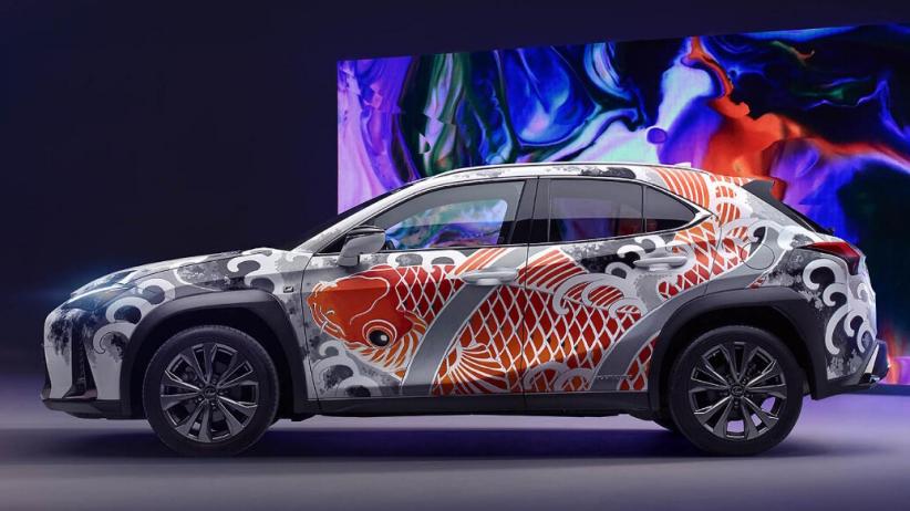 Lexus UX Ditato Gambar Ikan Koi, Begini Tampilannya