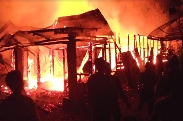 Kebakaran Rumah di Simalungun,Nenek dan Cucu Tewas Terjebak Kobaran Api