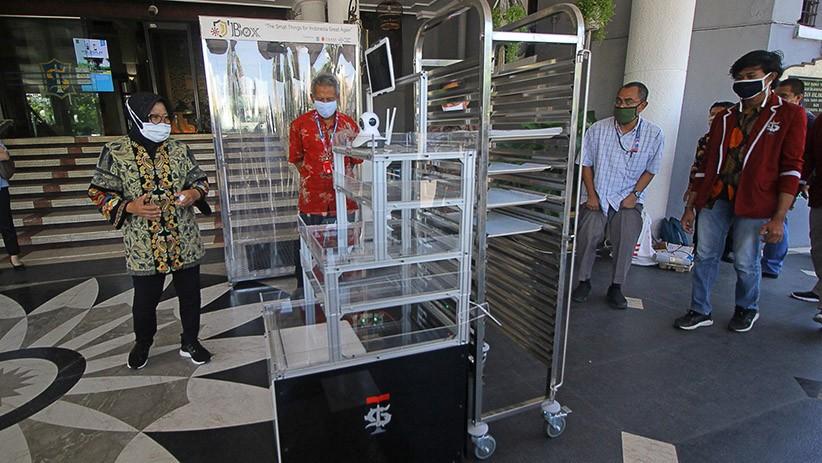 Mahasiswa Surabaya Ciptakan Robot untuk Bantu Tim Medis Tangani Pasien Covid-19