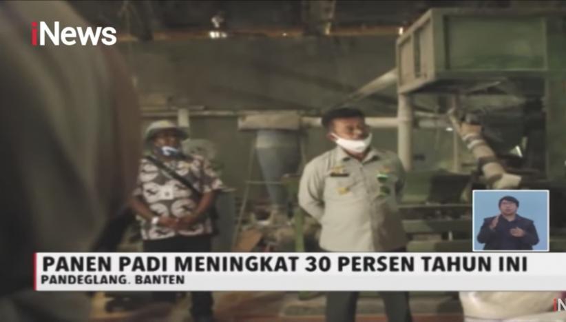 Mentan  Panen Raya dan Jajal Combine Harvester di Kabupaten Pandeglang