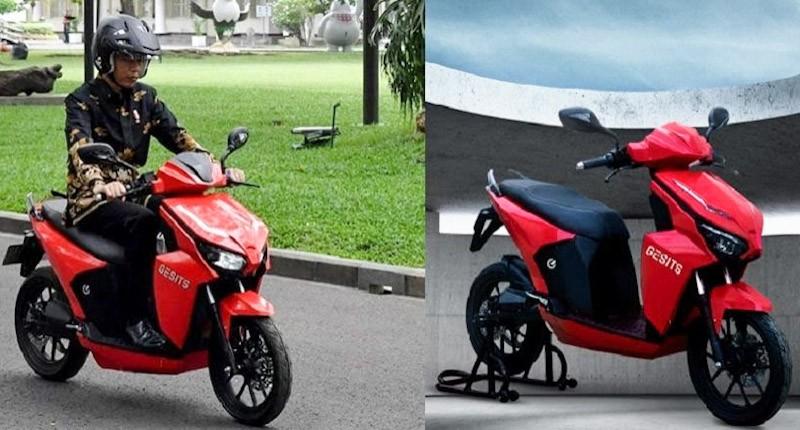 Spesifikasi Motor Listrik Gesits Bertanda Tangan Jokowi Dimenangkan Putra Hary Tanoesoedibjo