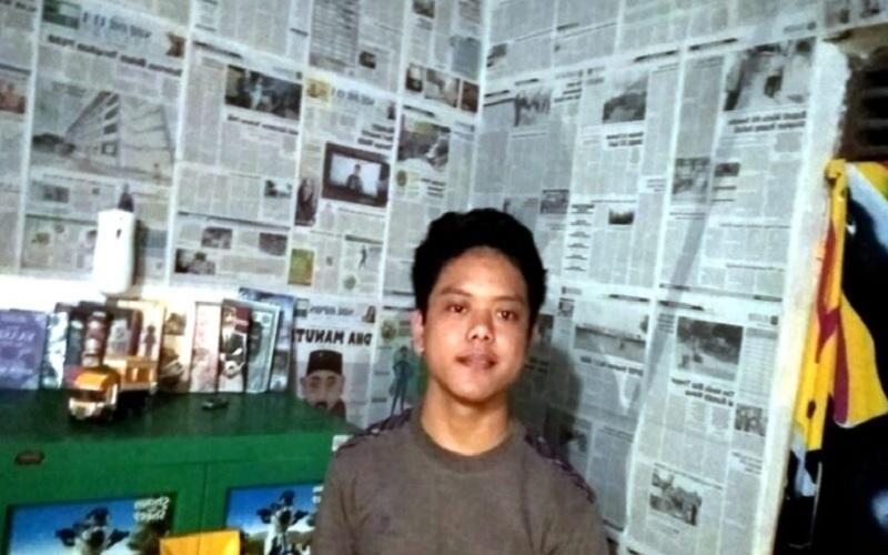 Gegara Dekor Kamar dengan Koran Bekas, Pemuda di Klaten Mendadak Viral