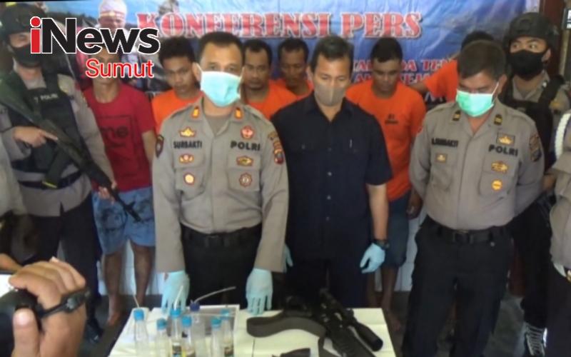 Polisi Tangkap 6 Pengguna dan 1 Pengedar Sabu, Seorang di Antaranya Oknum Polisi