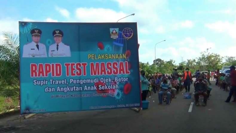 Sambut New Normal, Pemkab Dharmasraya Rapid Test Sopir Angkot