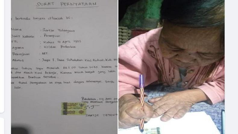 Kisah Oma Sartje, Lansia di Minahasa Tolak Bantuan Demi Prioritaskan Orang Lain