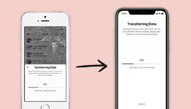 Signal Kini Bisa Transfer Data Ke Iphone Baru