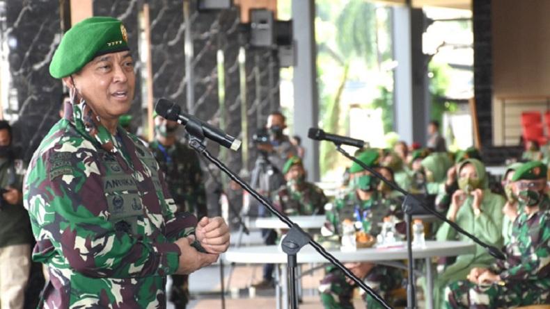1.262 Orang Positif Covid-19, KSAD Andika Perkasa Datangi Secapa Bandung