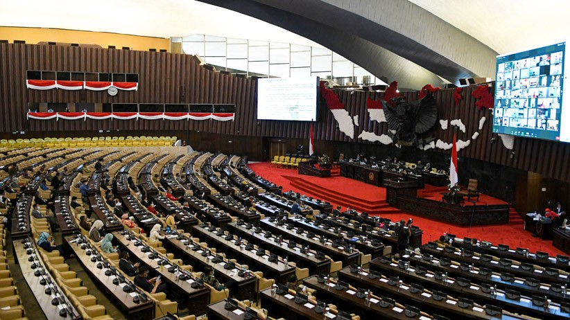 Pembukaan Masa Persidangan IV DPR, 227 Anggota Hadir Secara Virtual