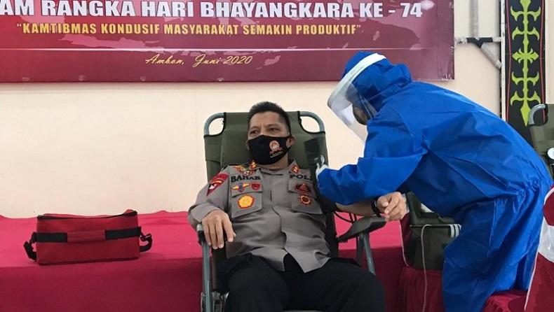 Peringati Hari Bhayangkara ke-74, Polda Maluku Lakukan Donor Darah