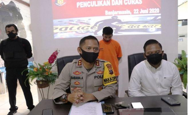 Tikam Warga saat Curi Laptop, Napi Asimilasi di Banjarmasin Ditangkap