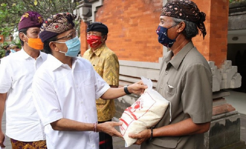 Gubernur Wayan Koster Siapkan Lumbung Pangan, Jaga Stok Beras Murah Selama Pandemi