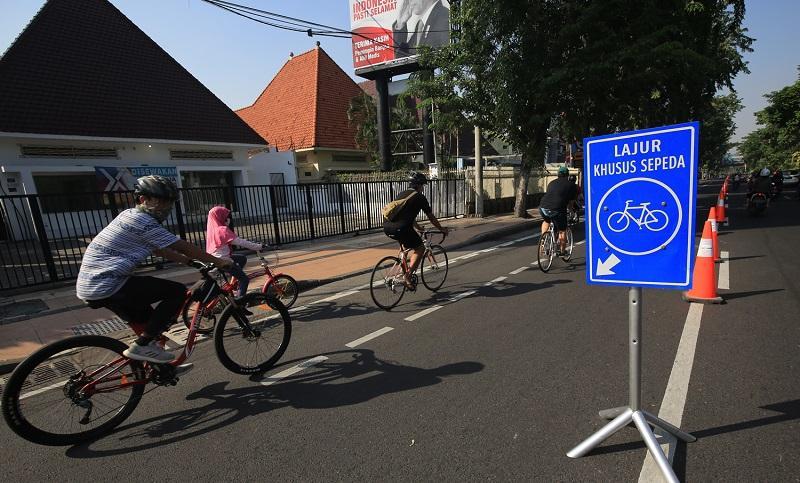 Warga Surabaya yang Bersepeda Makin Banyak, Dishub Tambah Lajur Khusus