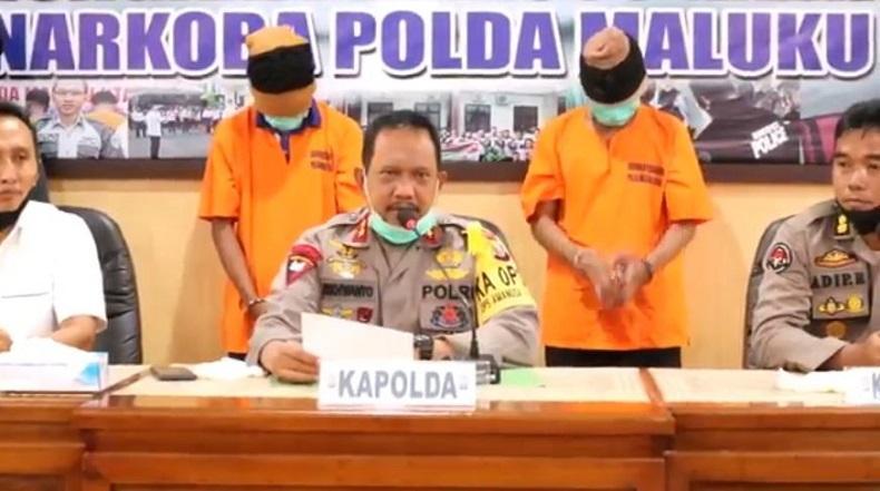 Jemput Paket Ganja 2,5 Kg di Jasa Pengiriman, Kurir Suruhan Napi Ditangkap di Ternate