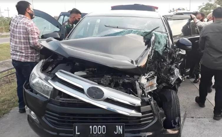 Mobil Kecelakaan di Tol Kertosono Ditumpangi Staf Forkopimda Jatim