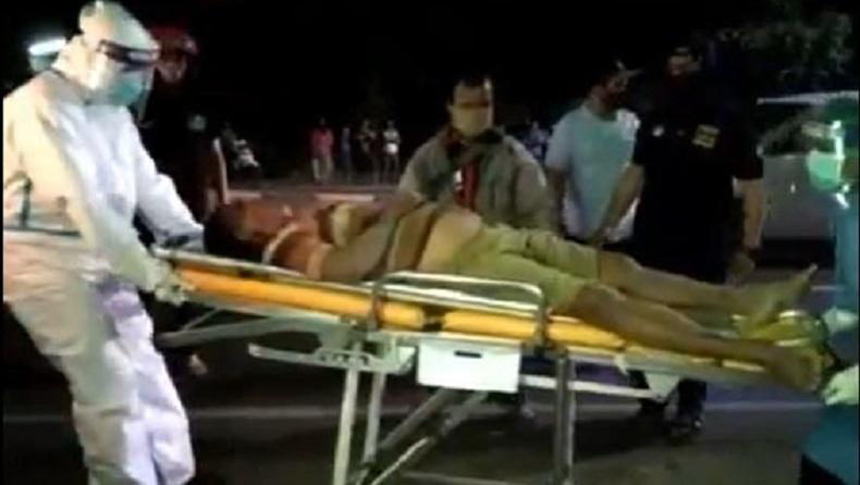 Diduga Kelelahan, Sopir Truk Terkapar dengan Mulut Berbusa di Sidoarjo