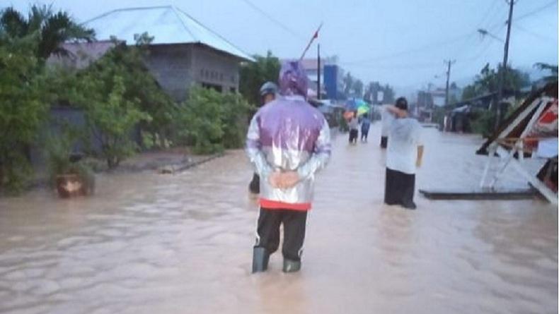 Curah Hujan Tinggi, Bolaang Mongondow Selatan Dilanda Banjir