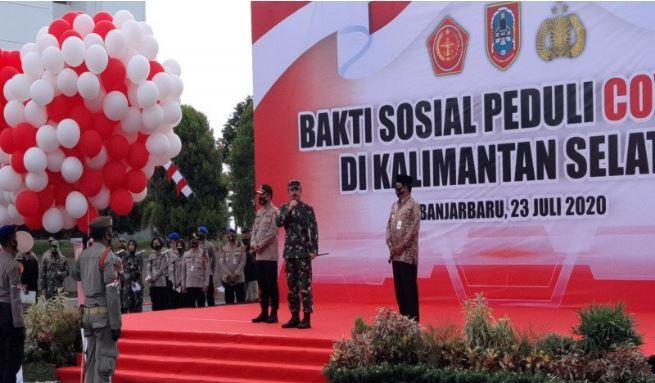 Panglima TNI Apresiasi Warga Kalsel Patuhi Protokol Kesehatan Covid-19
