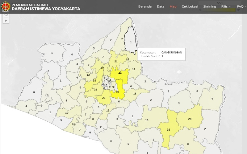 Hanya 2 Kecamatan di Kota Yogyakarta yang Belum Tersentuh Kasus Covid-19