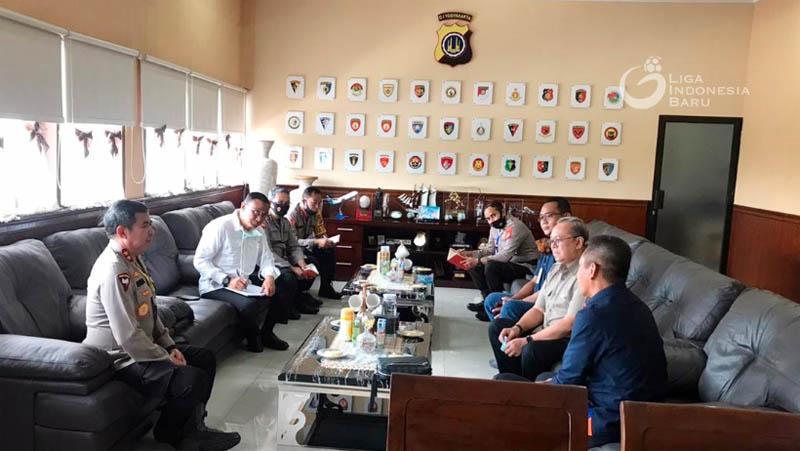 Persiapan Lanjutan Liga 1 2020, PT LIB Temui Kapolda DIY