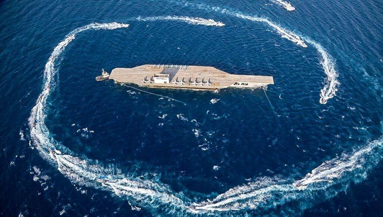 Iran Gelar Latihan Perang, Serang Kapal Induk Tiruan AS USS Nimitz Pakai Rudal