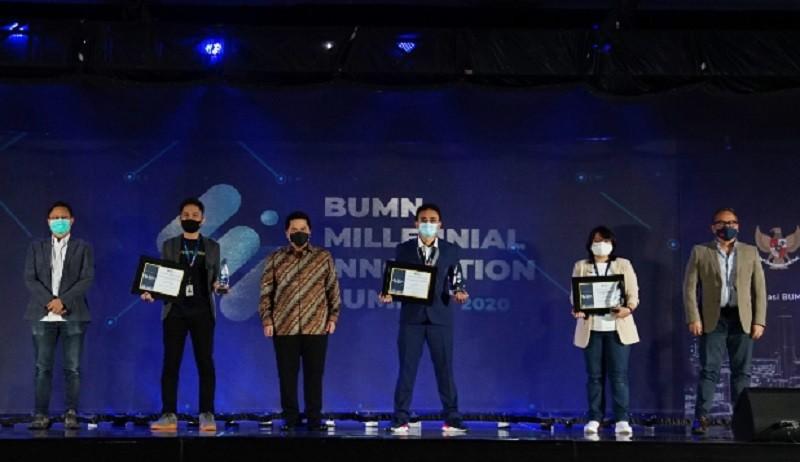Erick Thohir Beri Penghargaan Generasi Milenial Inovatif di BUMN