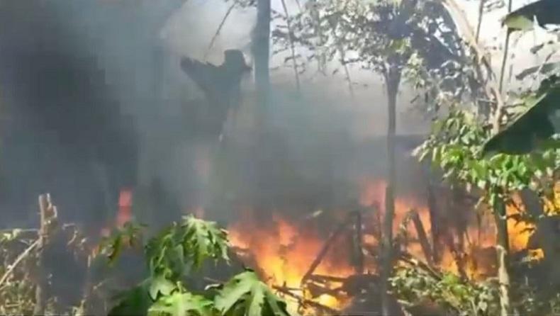 Ditinggal Mencari Rumput, Rumah Warga Jember Ludes Terbakar