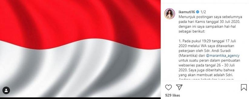 Pemprov DKI: Atas Arahan Gubernur Kasus Unggahan Artis FTV Ike Muti Selesai