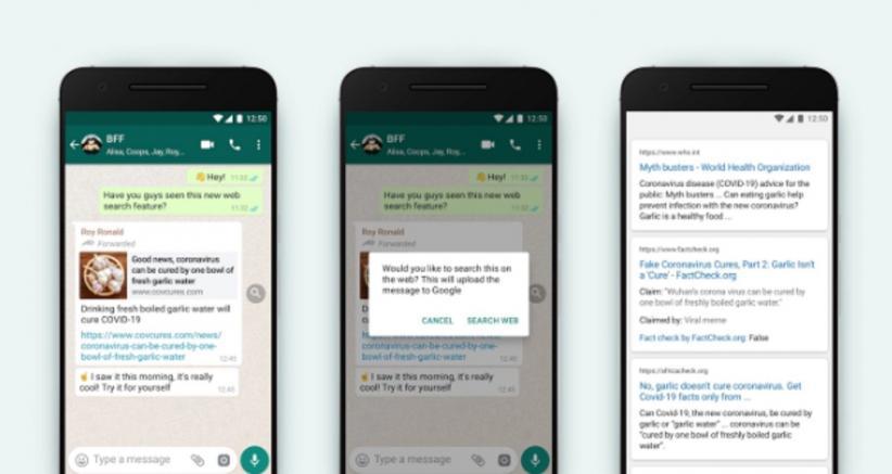 Lawan Hoax, WhatsApp Luncurkan Fitur Search The Web