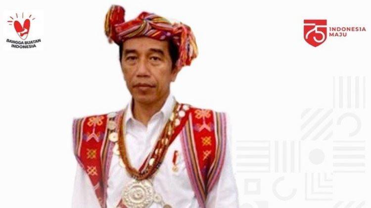 Warga NTT Bangga Tenun Ikat Kaif Dipakai Presiden Jokowi saat Upacara HUT RI