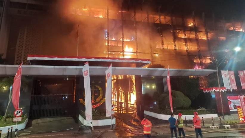 Ruang Arsip Gedung Kejaksaan Agung Kebakaran