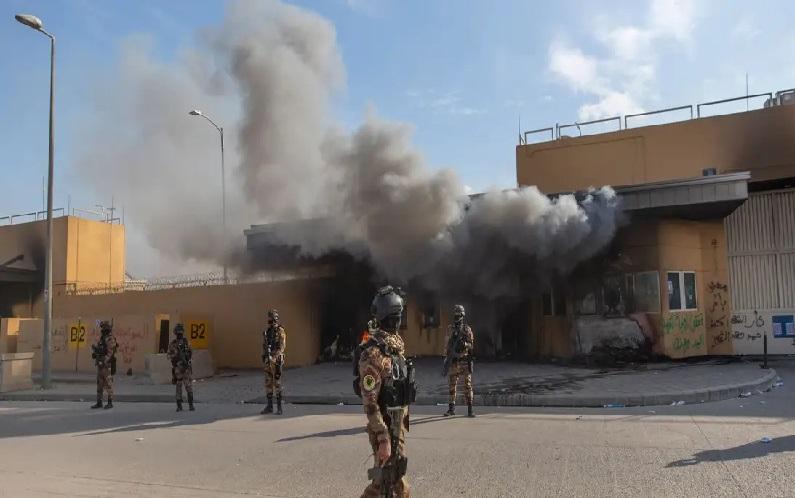 Serangan Roket Hantam Kompleks Gedung Kedutaan Besar AS di Irak