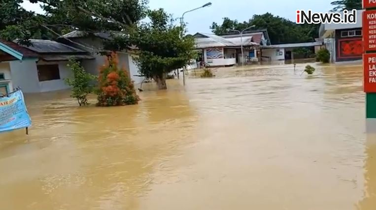 Banjir di Landak Surut, Warga Mulai Tinggalkan Pengungsian