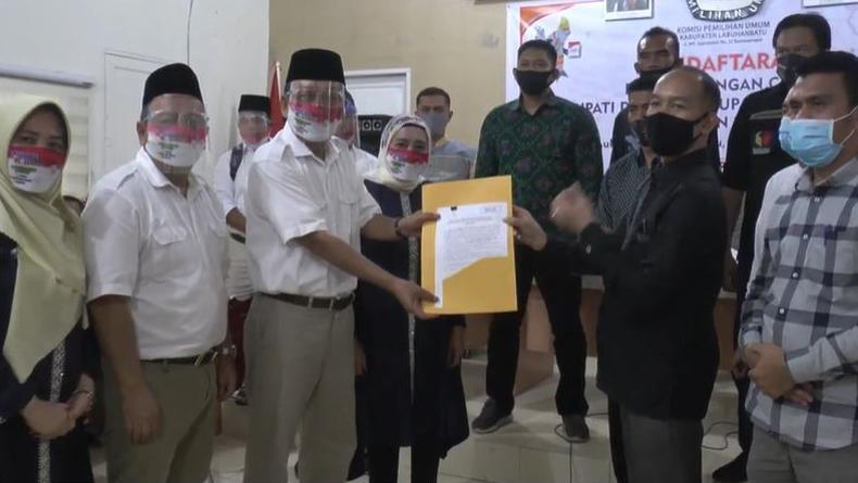 Tigor dan Idlinsah Daftar Pilkada Labuhanbatu, Perindo All Out Bantu Menangkan
