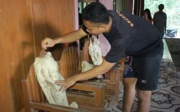 Warga Grobogan Temukan 4 Potongan Arca dan Batu Besar Diduga Fondasi Candi