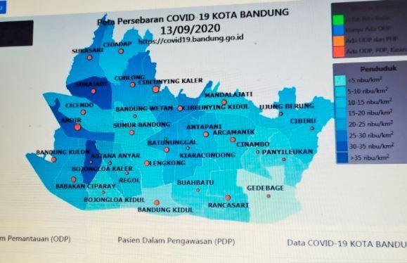 Seluruh Kecamatan di Kota Bandung Zona Merah Covid-19, Warga Diminta Jaga Prokes