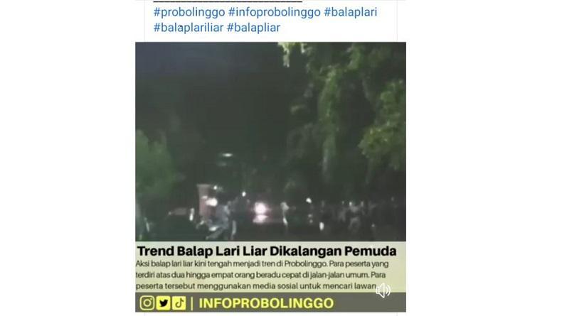 Video Balap Lari Liar di Probolinggo Viral, Aparat Akan Tindak Lanjuti