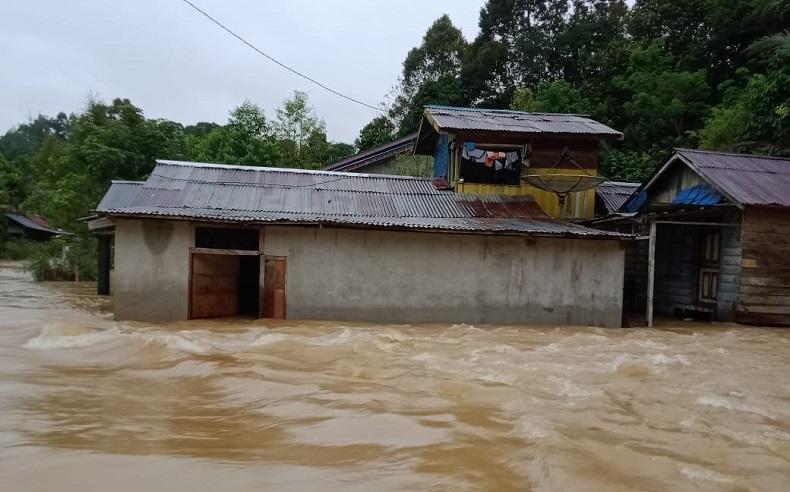 Banjir di Melawi, 300 Warga Desa Tanjung Lay Mengungsi ke Masjid