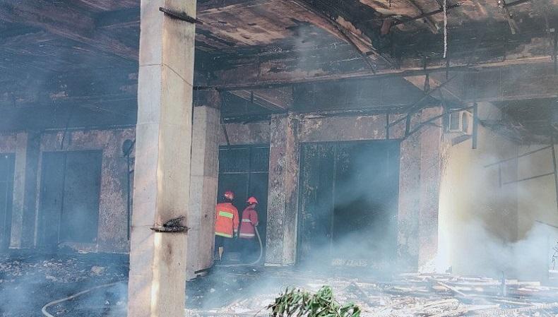 GOR Saburai Bandarlampung Terbakar, Diduga Ulah Orang dengan Gangguan Jiwa