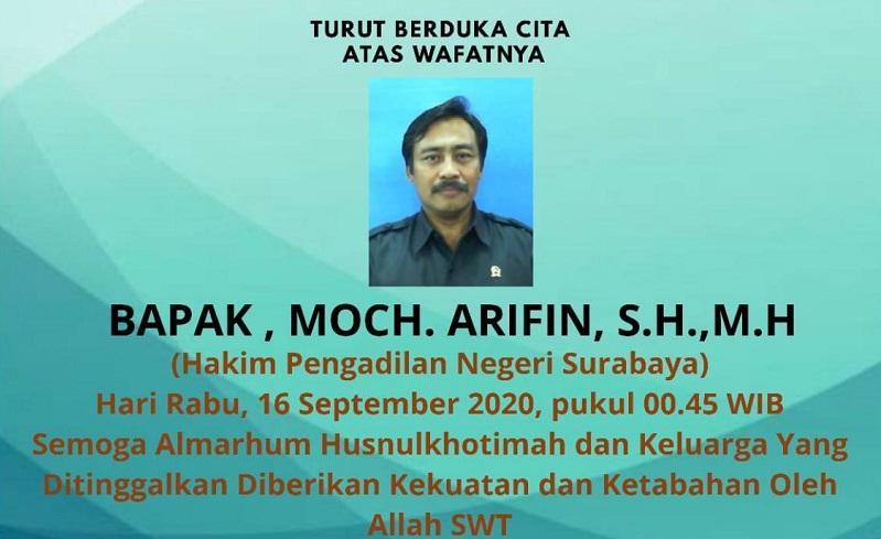 Hakim PN Surabaya Meninggal karena Covid-19, Seluruh Pegawai Dites Swab