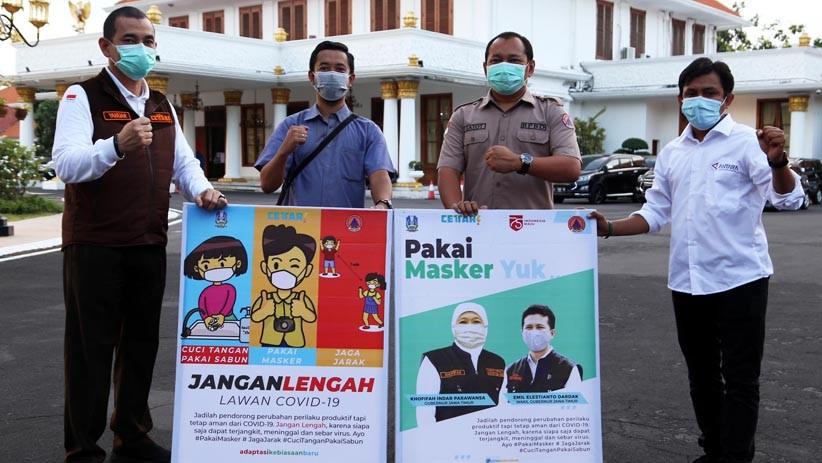 BPBD Jatim Gandeng Wartawan Sosialiasi Penerapan Protokol Kesehatan