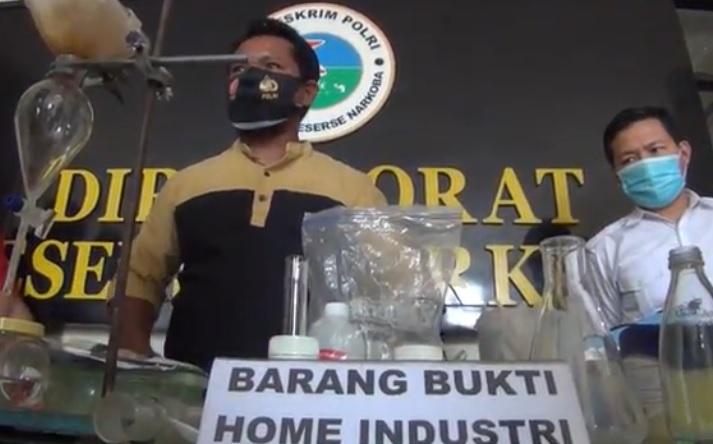 Belajar dari YouTube, 2 Pemuda di Kendari Buka Home Industry Sabu