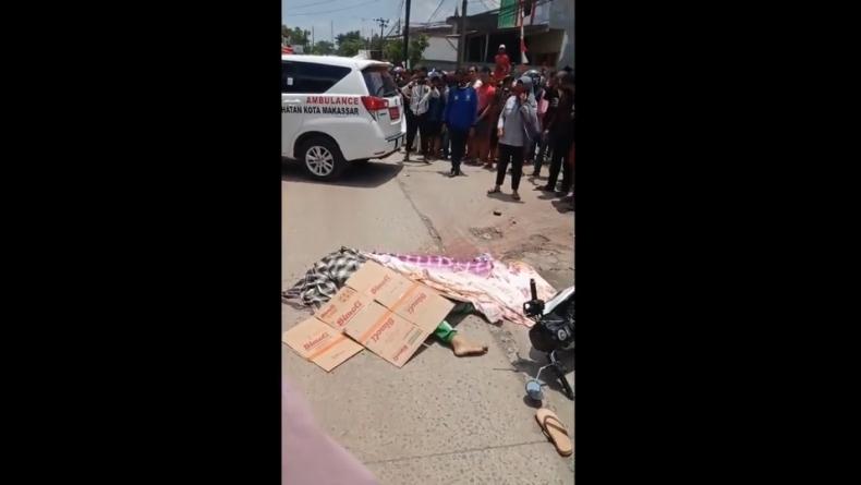Hindari Jalan Berlubang, Pelajar SMP di Makassar Tewas Terlindas Truk