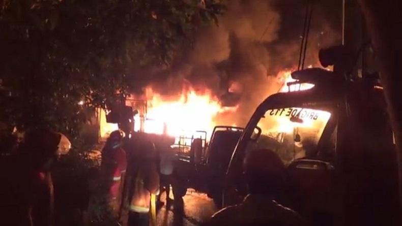 Kebakaran Gudang Elpiji di Pematangsiantar, Pemilik dan 4 Keluarganya Terjebak Api